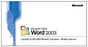 Tampilan MS Word 2003